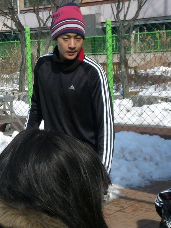 Kim Hyun Joong And Kim Hyung Jun Playing Soccer Together